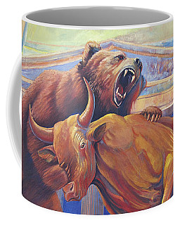 Bear Vs Bull Coffee Mug