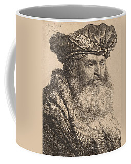 Bearded Man In A Velvet Cap With A Jewel Clasp Coffee Mug