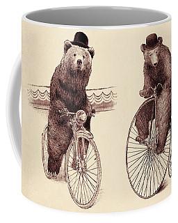 Bears On Bicycles Coffee Mug