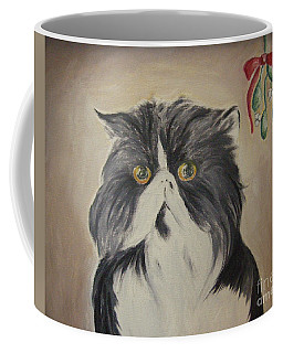 Beau With Mistletoe Coffee Mug
