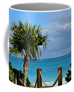 Coffee Mug featuring the photograph Beautiful Day At The Beach by Judy Wolinsky