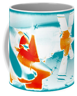 Coffee Mug featuring the photograph Fixed Wing Aircraft Pop Art Poster by R Muirhead Art