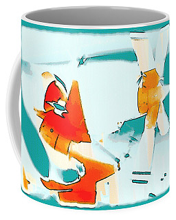 Coffee Mug featuring the photograph Fixed Wing Aircraft Pop Art by R Muirhead Art
