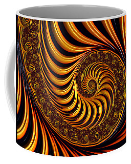 Beautiful Golden Fractal Spiral Artwork  Coffee Mug