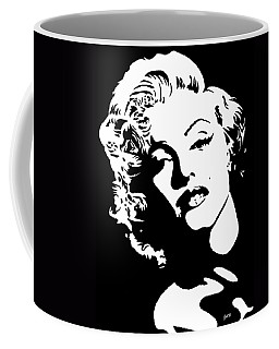 Coffee Mug featuring the painting Beautiful Marilyn Monroe Original Acrylic Painting by Georgeta  Blanaru
