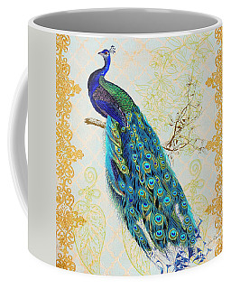 Beautiful Peacock-b Coffee Mug by Jean Plout