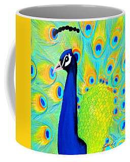 Beautiful Peacock Card Coffee Mug