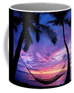 Beautiful Vacation Sunset, Hammock Coffee Mug