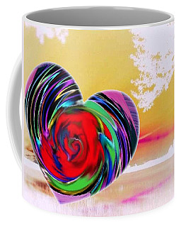 Coffee Mug featuring the digital art Beautiful Views Exist by Catherine Lott