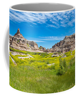 Coffee Mug featuring the photograph Beauty And The Badlands by John M Bailey