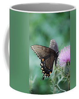Beauty And Thistle Coffee Mug by Eric Liller