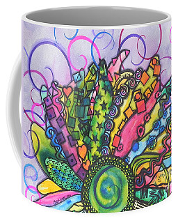 Coffee Mug featuring the painting Beauty Comes Out by Chrisann Ellis