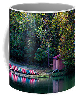 Coffee Mug featuring the photograph Beavers Bend Reflection by Robert Bellomy