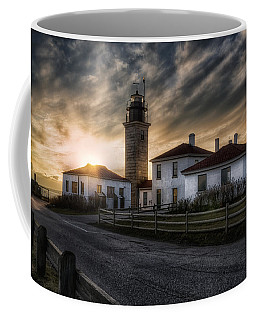 Beavertail Lighthouse Sunset Coffee Mug