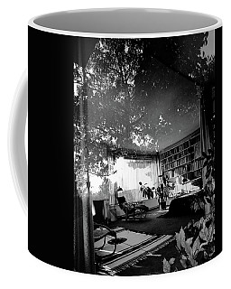 Bedroom Seen Through Glass From The Outside Coffee Mug