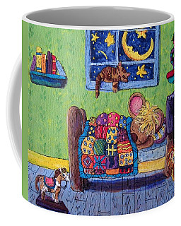 Bedtime Mouse Coffee Mug by Megan Walsh