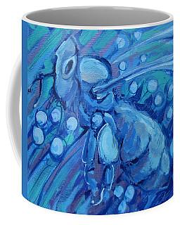 Bee Blue Coffee Mug