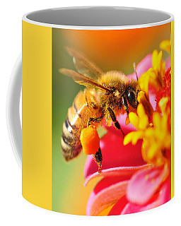 Bee Laden With Pollen Coffee Mug