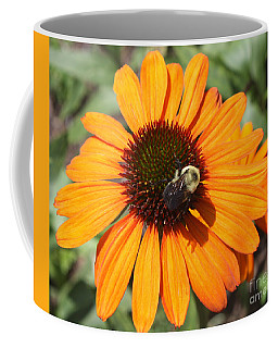 Coffee Mug featuring the photograph Bee On Flower by John Telfer