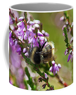 Bee On Heather Coffee Mug