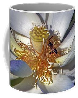 Bee On Lotus Coffee Mug