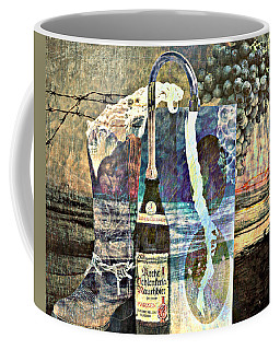 Coffee Mug featuring the mixed media Beer On Tap by Ally  White
