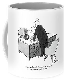 Before Reading Miss Simpkins' Coffee Mug