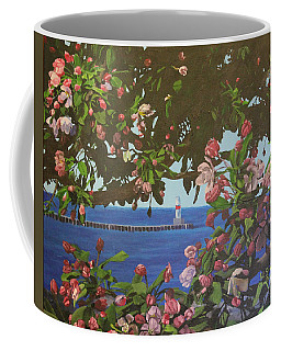 Beginnings Of Summer At The Waterfront Coffee Mug by Wendy Shoults