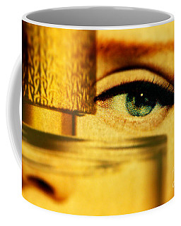 Behind The Bottle Coffee Mug by Michael Cinnamond