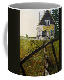 Coffee Mug featuring the painting Behind The Old Church by Marilyn  McNish