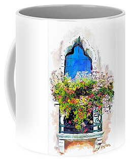 Coffee Mug featuring the painting Bei Fiori by Greg Collins