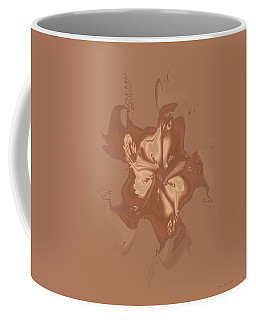 Beige Satin Morning Glory Coffee Mug