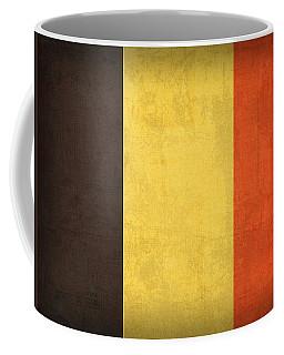 Belgium Flag Vintage Distressed Finish Coffee Mug