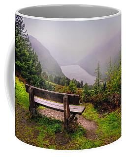 Bench Over The Upper Lake. Glendalough. Ireland Coffee Mug