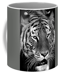 Bengal Tiger In Black And White Coffee Mug by Venetia Featherstone-Witty