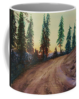 Coffee Mug featuring the painting Bergebo Forest by Martin Howard
