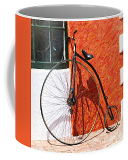Coffee Mug featuring the photograph Bermuda Antique Bicycle by Verena Matthew