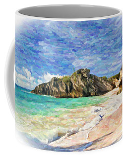 Coffee Mug featuring the digital art Bermuda Beach by Verena Matthew