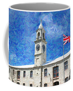 Coffee Mug featuring the photograph Bermuda Clocktower by Verena Matthew