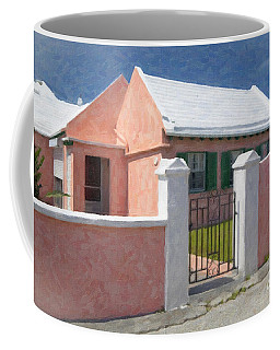 Coffee Mug featuring the photograph Bermuda Garden Gate by Verena Matthew