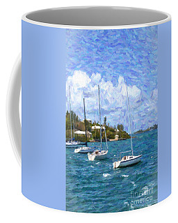 Coffee Mug featuring the photograph Bermuda Sailboats by Verena Matthew