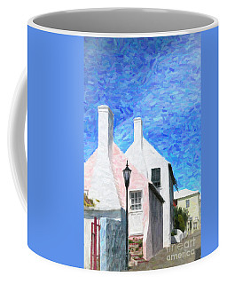 Coffee Mug featuring the photograph Bermuda Side Street by Verena Matthew