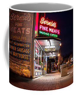 Bernies Fine Meats Signage Coffee Mug by James  Meyer