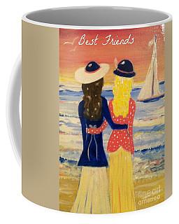 Best Friends Greeting Card Coffee Mug