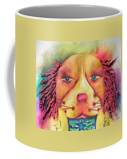 Coffee Mug featuring the painting Best In Show Dog A Tude One by Chrisann Ellis