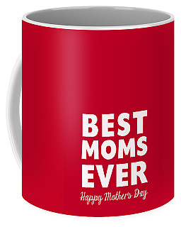 Best Moms Card- Red- Two Moms Mother's Day Card Coffee Mug