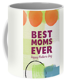 Best Moms Card- Two Moms Greeting Card Coffee Mug