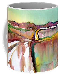 Coffee Mug featuring the painting Bethel Road by Teresa Ascone