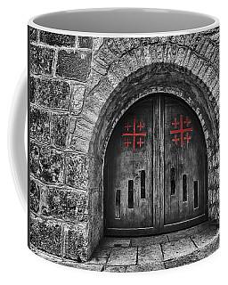 Bethlehem Doorway Bw Coffee Mug