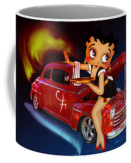 Coffee Mug featuring the photograph Betty Boop Service1-featued In Comfortable Art Group by Ericamaxine Price